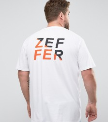 Zeffer PLUS Split Back Print T-Shirt - White