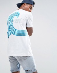 Zeffer Wave Back Print T-Shirt - White