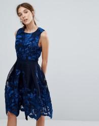 Zibi London Embellished Net Prom Dress - Navy