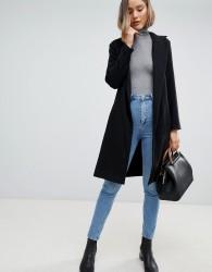 Zibi London Fit & Flare Coat - Black