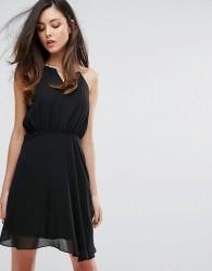 Zibi London Metal Bar Blouson Dress - Black