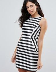 Zibi London Striped Pencil Dress - Multi