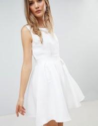Zibi London Structured Skater Dress - White