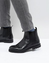 Zign Chunky Leather Chelsea Boots - Black