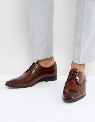 Zign Leather Brogue Shoes In Brown - Brown