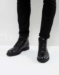 Zign Leather Hiker Boots - Black