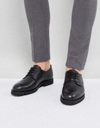 Zign Leather Shoes With Chunky Sole - Black