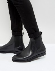 Zign Leather Wedge Chelsea Boots - Black