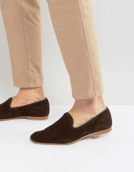 Zign Suede Dress Loafers - Brown