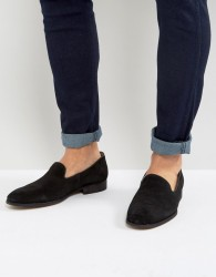 Zign Suede Loafers - Black