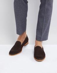 Zign Suede Smart Loafer In Brown - Brown