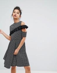 Ziztar Infinity Cold Shoulder Dress - Navy