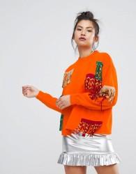 Ziztar Never Too Much Fringe Sweatshirt - Orange