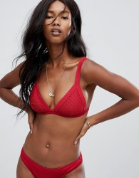Zulu & Zephyr Red Harness Bikini Top - Red
