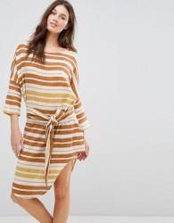 Zulu & Zephyr Stripe Tie Front Beach Dress - Multi