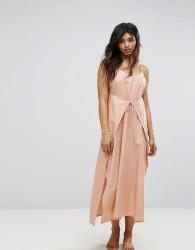 Zulu & Zephyr Wrap Front Maxi Beach Dress - Pink