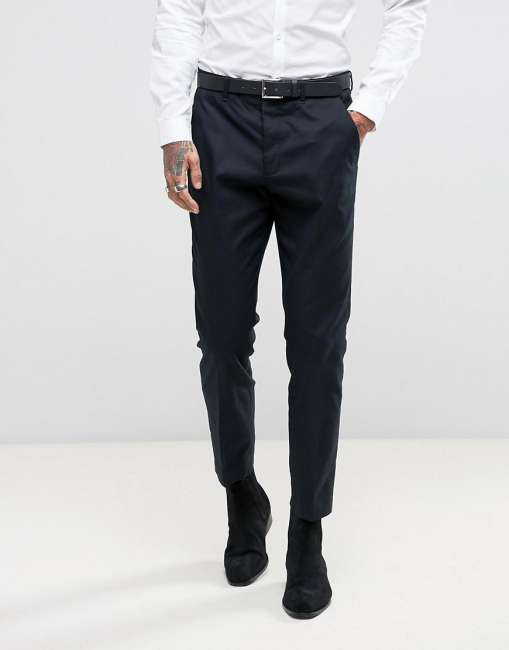 Priser på AllSaints Slim Fit Suit Trouser - Navy