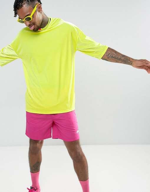Priser på ASOS Oversized T-Shirt In Neon Yellow Velour - Yellow
