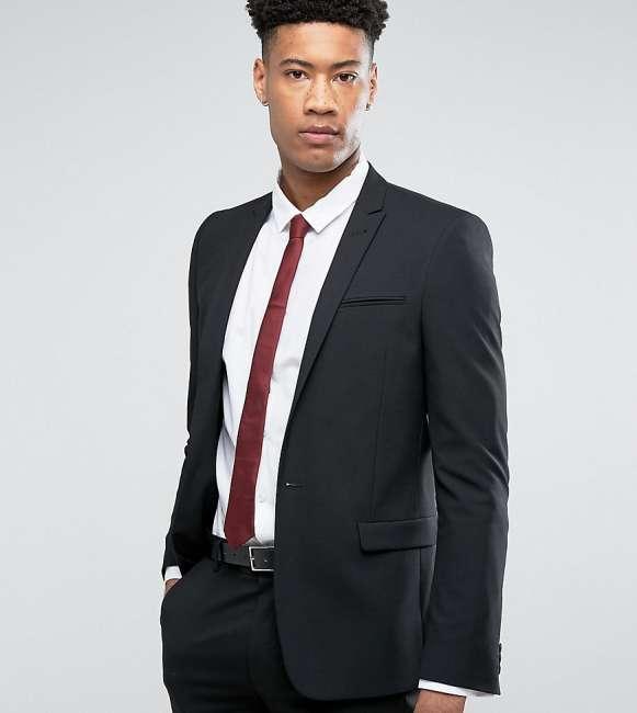 Priser på ASOS TALL Skinny Suit Jacket In Black - Black