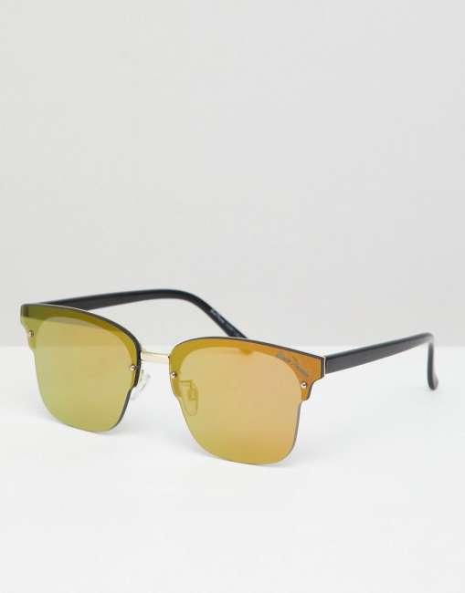 Priser på Black Phoenix Mirror Gold Lens Sunglasses - Gold