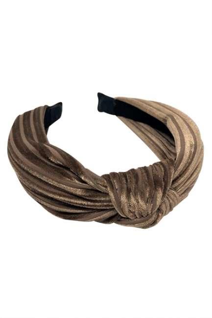 Priser på By Stær - Hårbøjle - No. 030 - Velvet Stripe Brown