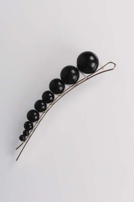 Priser på By Stær - Hårspænde - Tina - Pearl Black Silver