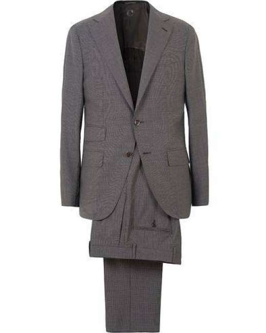 Priser på Caruso Wool Micro Dogtooth Suit Grey
