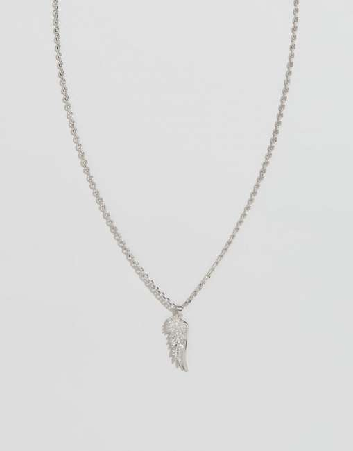 Priser på Chained & Able Wing Pendant Necklace In Silver - Silver