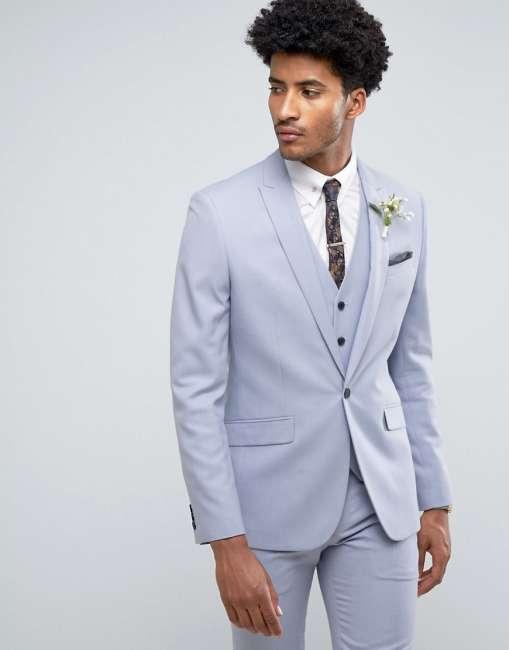 Priser på Farah Skinny Wedding Suit Jacket in Blue - Blue