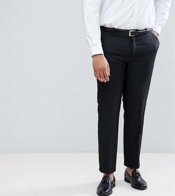 Priser på Heart & Dagger PLUS Skinny Suit Trousers - Grey