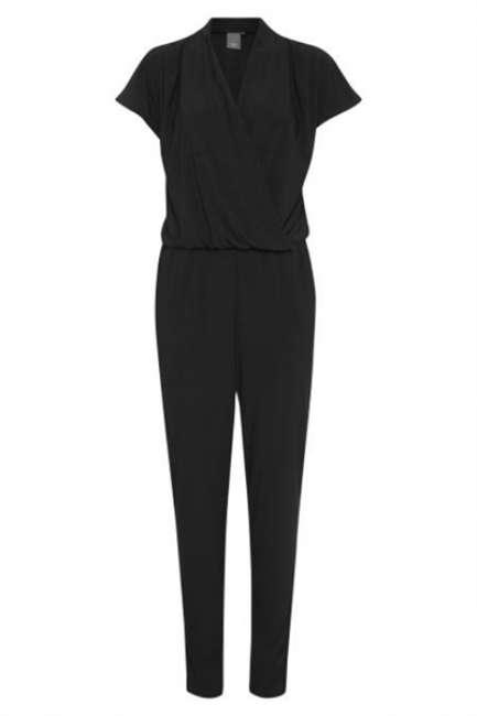 Priser på ICHI - Jumpsuit - Lima T-shirt Buksedragt - Black