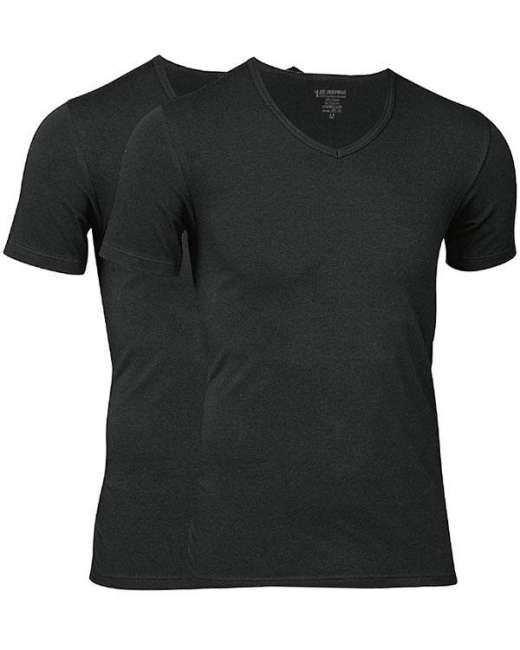 Priser på JBS Undertøj JBS Extra Soft Bambus 2-pak Sort JBS T-shirt med V-hals 1080 2000 09