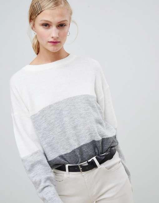 Priser på JDY block stripe jumper - Multi