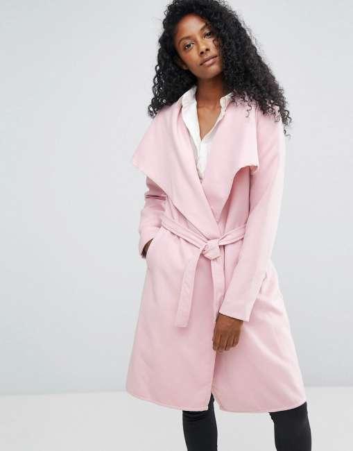 Priser på JDY Long Trench Coat - Pink