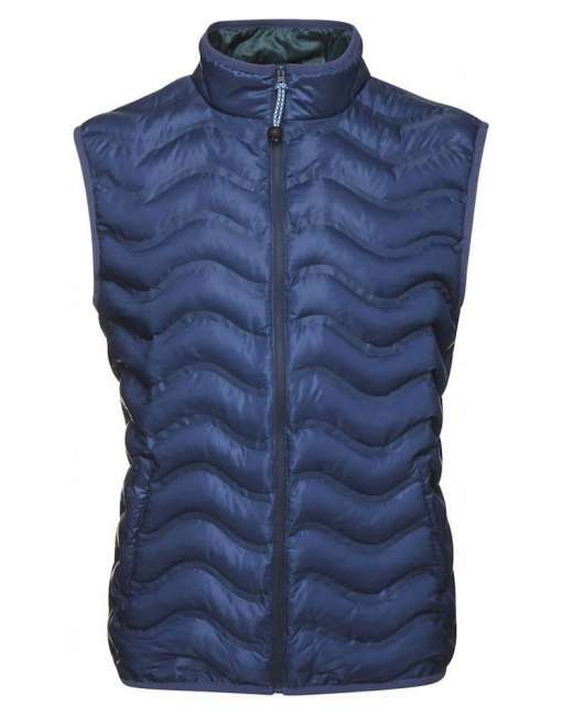 Priser på Knowledge Cotton Apparel PET wave quilted vest 92245 (MØRKEBLÅ, MEDIUM)