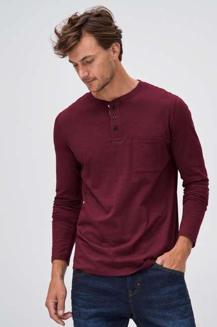 Priser på Langærmet T-shirt med knapper