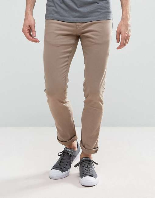 Priser på Loyalty and Faith Skinny Fit Jeans with Light Abbrasions in Stone - Stone