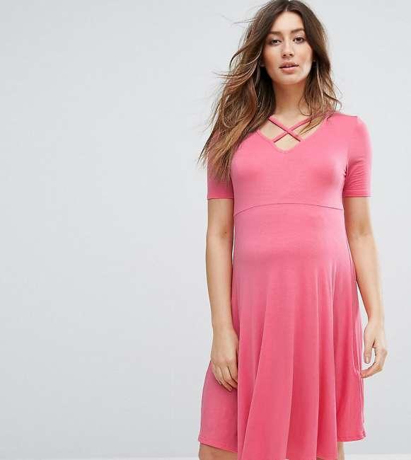 Priser på New Look Maternity Skater Dress - Orange