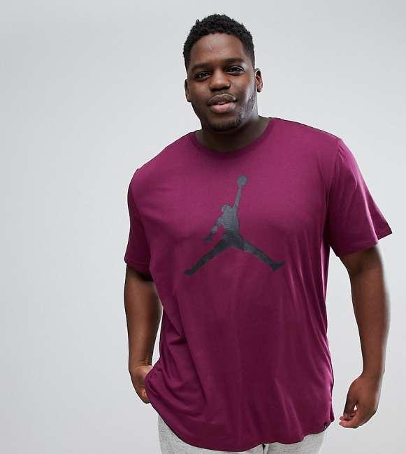 Priser på Nike Jordan PLUS T-Shirt With Large Logo In Purple 908017-609 - Purple