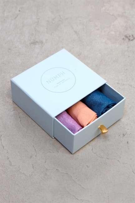 Priser på Nümph - Strømper - Bronach 3-Pak Glitter Socks - Multi Glitter