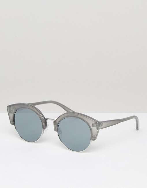 Priser på Pieces Grey Round Sunglasses - Grey