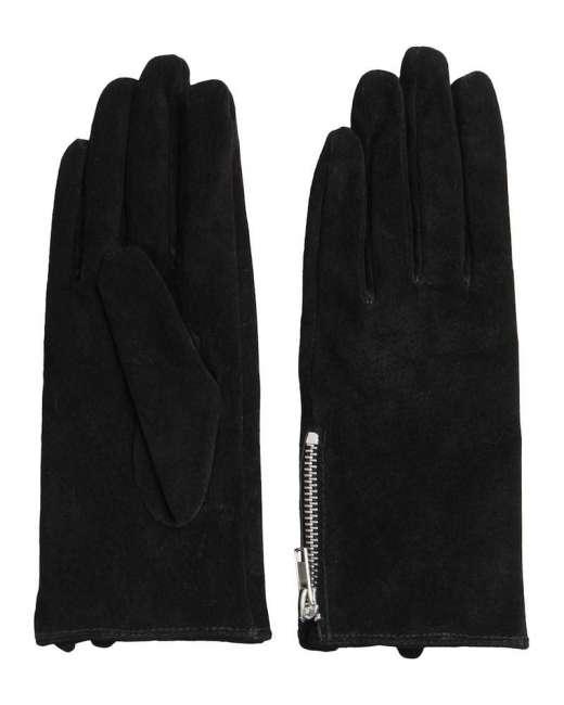 Priser på Pieces Jamista suede glove (SORT, L)