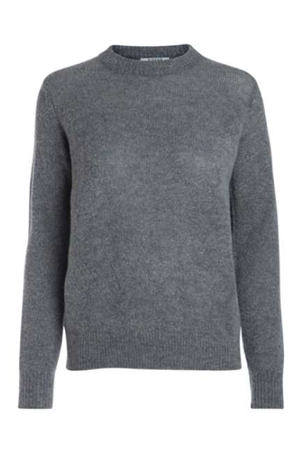 Priser på Pieces - Strik - PC Jane LS Wool Knit - Medium Grey Melange