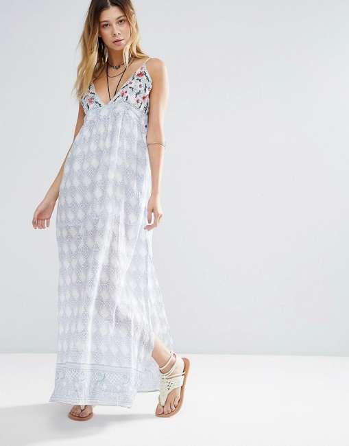 Priser på Raga Santa Barbara Printed Maxi Dress - Blue