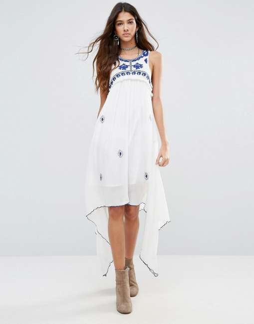 Priser på Raga Santorini Waterfall Dress - White