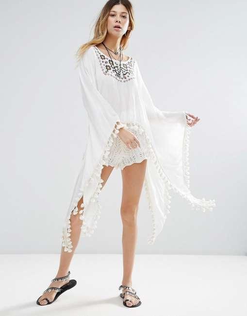 Priser på Raga Sedona Maxi Flared Sleeve Top - White