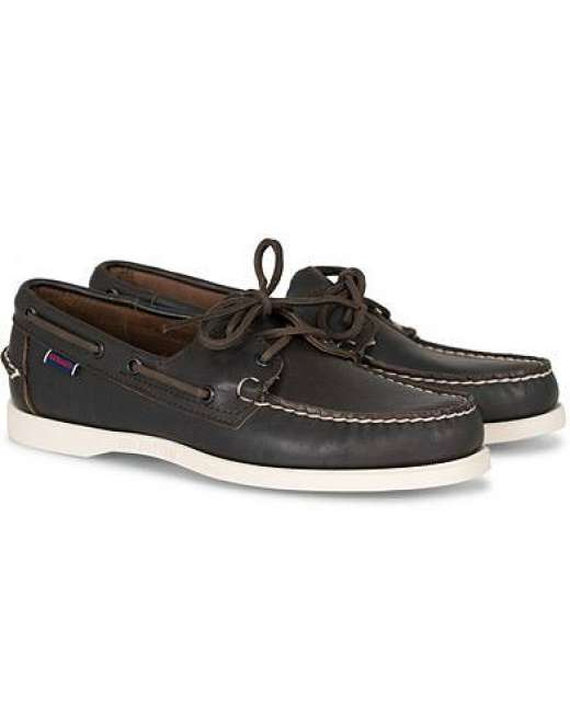 Priser på Sebago Docksides Boat Shoe Dark Brown men US7 - EU40 Brun