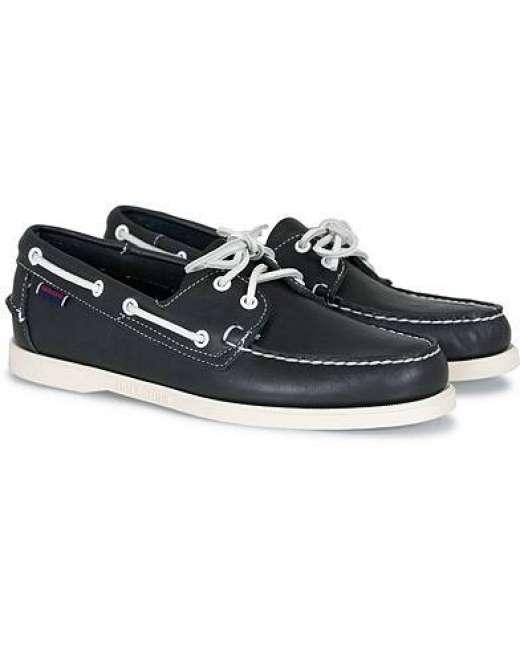 Priser på Sebago Docksides Boat Shoe Navy men US7 - EU40 Blå