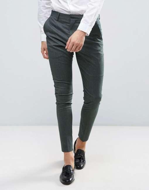 Priser på Selected Homme Super Skinny Suit Trousers - Green