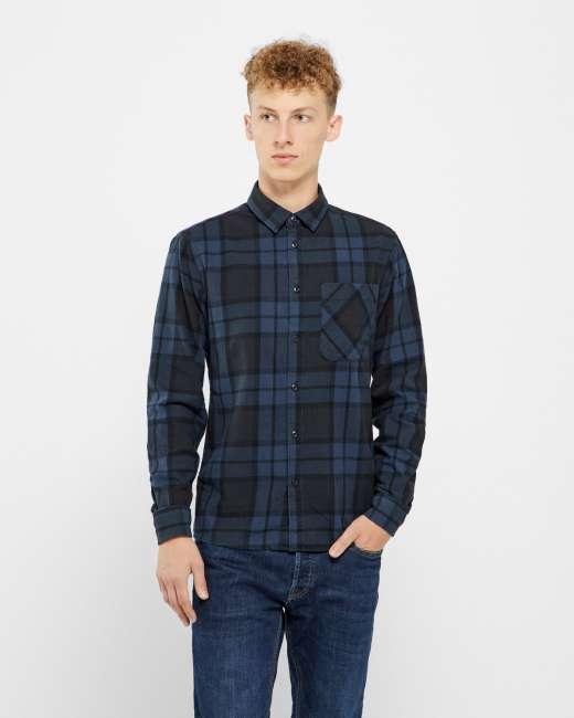 Priser på Solid langærmet skjorte